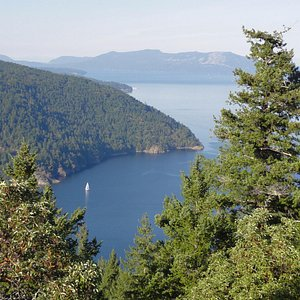 Looking towards Salt Spring Island in the distance