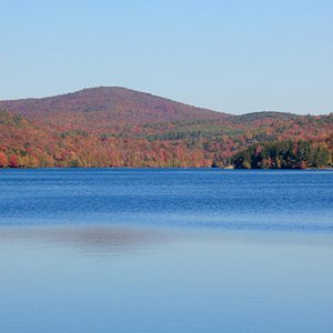 Eastman pond in fall.  The x-country trails in Eastman are beautifully groomed.