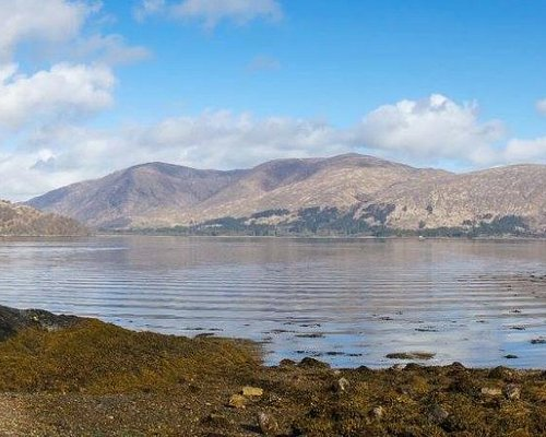 View at low tide from Loch Linnhe Picnic Area