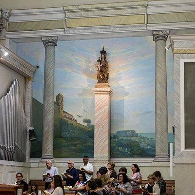 il coro e l'organo