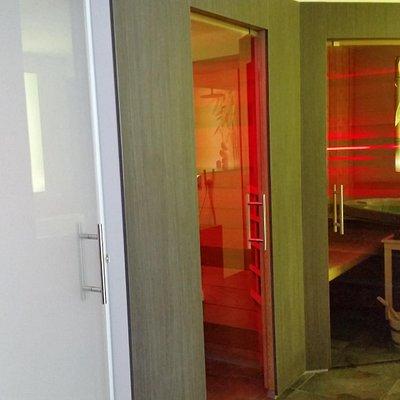 Steam cabin, infra red cabin, sauna