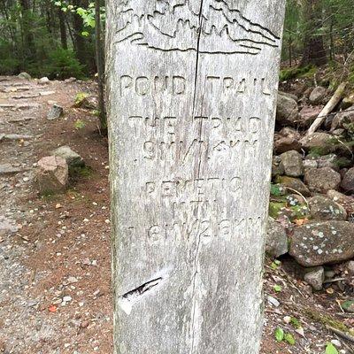 The starting point at Jordan Pond