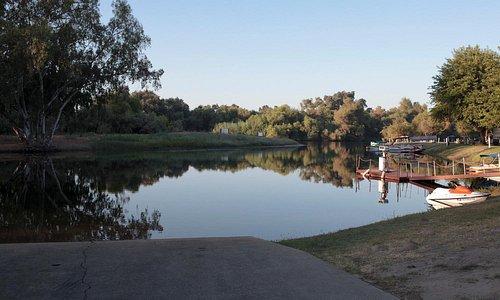 River access/boat launch  at Club Royal Oak RV Resort.