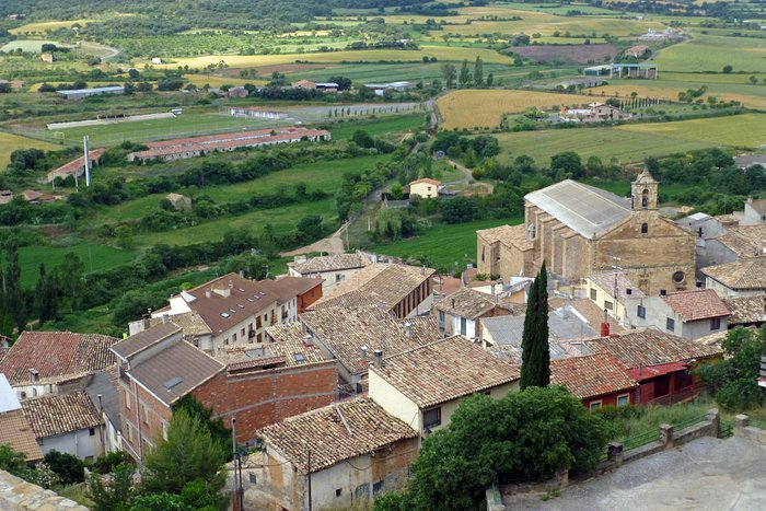 über Benabarre in der Franja de Aragón