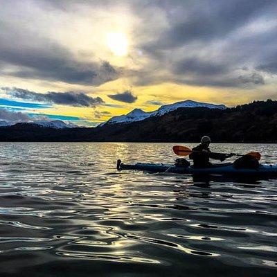 Kayaking Kodiak harbor