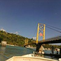 Yellow bridge at lembongan island