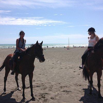 On the beach in Ostia!