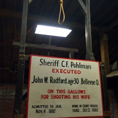 Photos from the Historic Sandusky jail, dungeon and gallows tour.