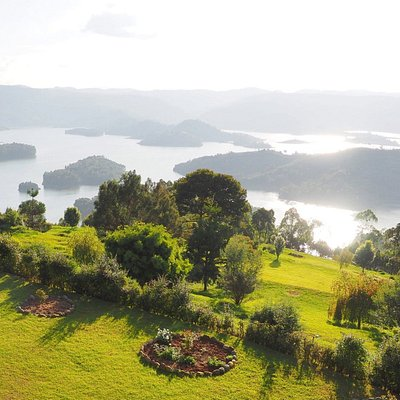 View of Lake Bunyonyi from above