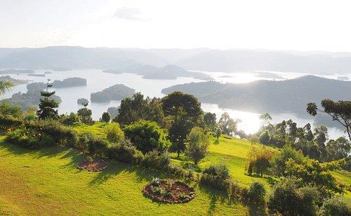 View of Lake Bunyonyi from above