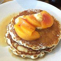 Ginger peach pancakes