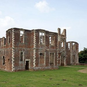 A front view of what would have been a really impressive and imposing building