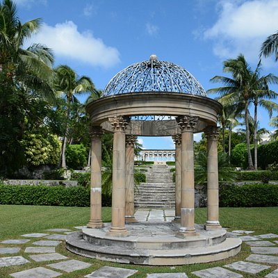 Cloistered away in the Bahamas.