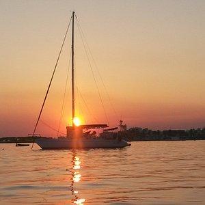 Il tramonto di Porto Cesareo regala sempre emozioni uniche....