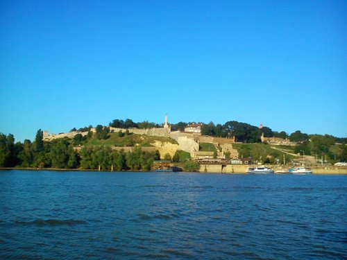 View on Kalemegdan fortress from the river