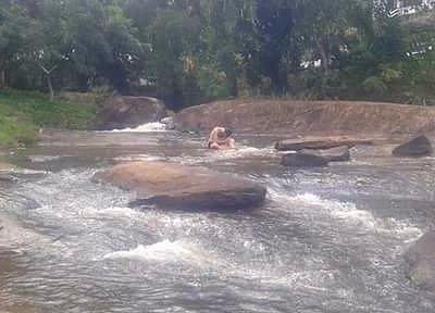 Um dos córregos da Cachoeira dos Prazeres