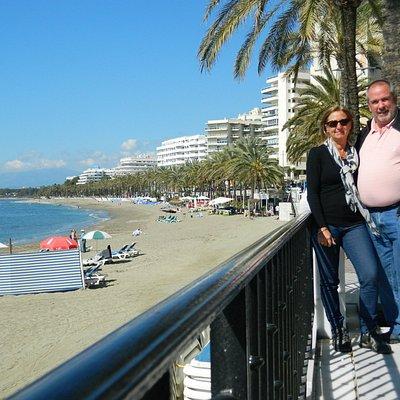 Autofoto desde la rambla del Paseo Marítimo de Marbella