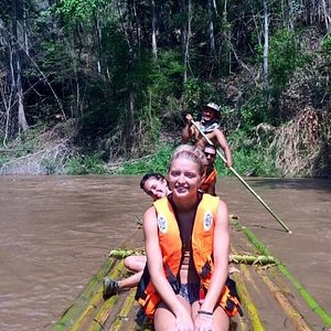 Bamboo rafting was so much fun! And beautiful