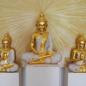 Buddha gold leaf and eggshell