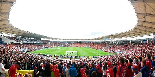 Almost from the middle of the A stand during Euro 2016 Czech Rep. - Spain game