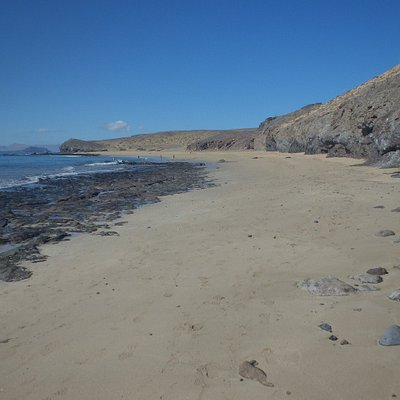 la partie nord de la plage