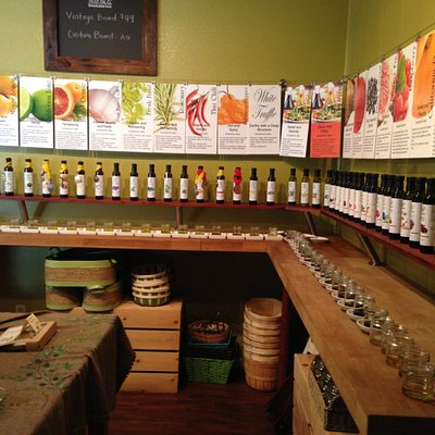 Oils and vinegars at Sutter Butte