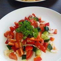 Fresh cut vegie salad