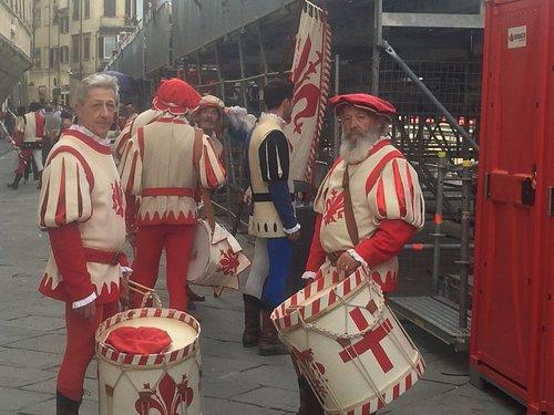 Calcio historico procession drummers