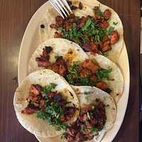 The tacos were great and so filling.  The picture below is for 3 tacos enchiladas.