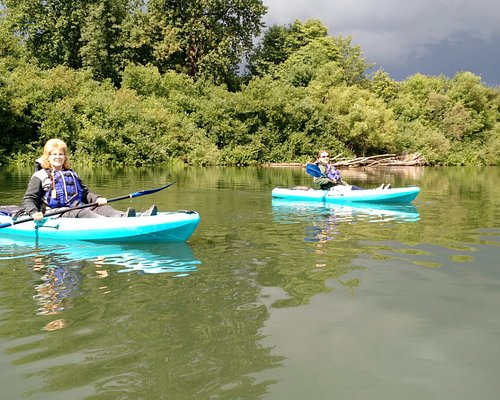 Kayaking with my wife on the Willamette River