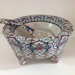 Molcajete in high temperature ceramic