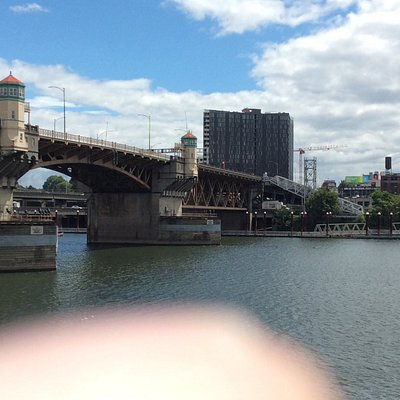 This is Burnside Bridge with my finger in the foreground. Sorry.