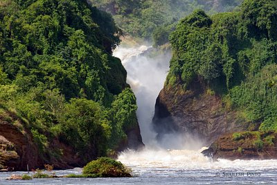 Murchison falls view from the boat ride on the Nile