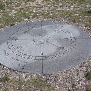 Three readings Clark took, replica of his compass