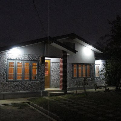 The exterior photo of the spa, located in a small private house, well decorated for spa.