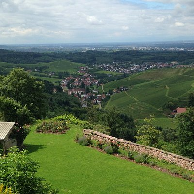 The view of the Rhine Valley from the castle