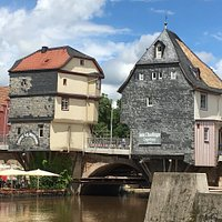 Charming Bridge Houses over the Nahe.