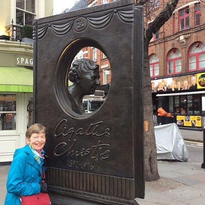 Agatha Christie Memorial, near Seven Dials