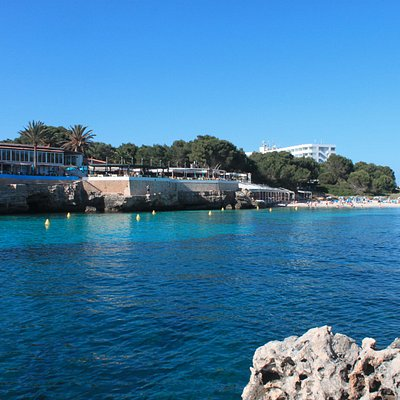Dive Center Cala Blanca - perched on the rocks of the bay!