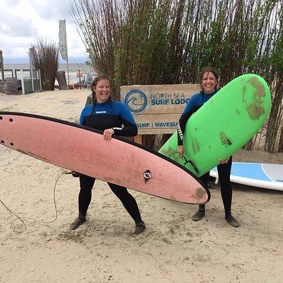 First surfing lesson in Zandvoort @ north sea kitesurf school