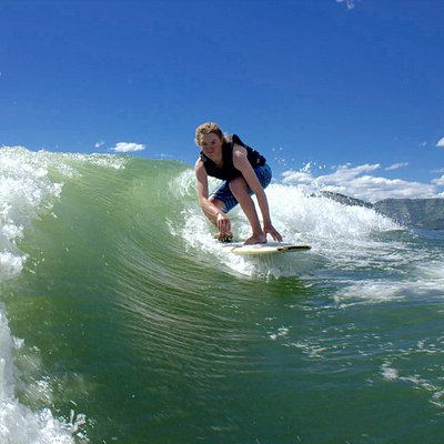 A quick learner and amazing wake surfer!