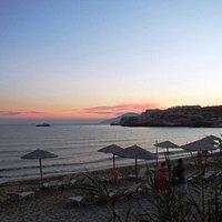Ηλιοβασίλεμα στην παραλία Κουμπάρα στα μέσα του Ιουνη του 2016