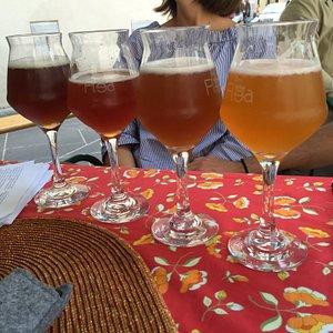 Alcune delle ottime birre a disposizione