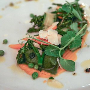 Vegetarian entree at Osprey Tavern for Orlando Foodie Tours
