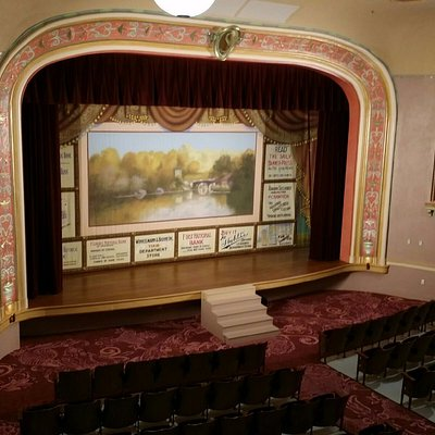 Inside of theatre from the balcony (house left)