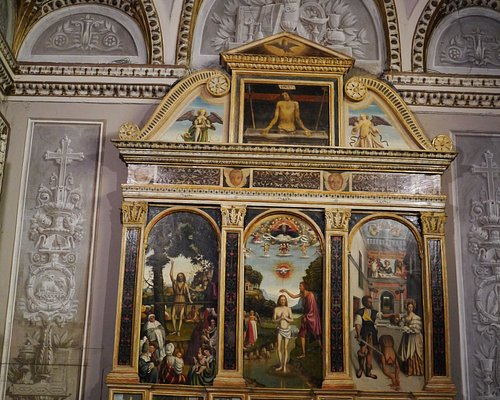 The large altarpiece depicting the life of St.John the Baptist