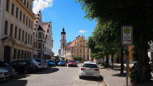 Blick vom Schloß auf das Stadtmuseum