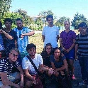 Nos étudiants, très déçus d'avoir fait le déplacement jusqu'à Lattes pour rien!