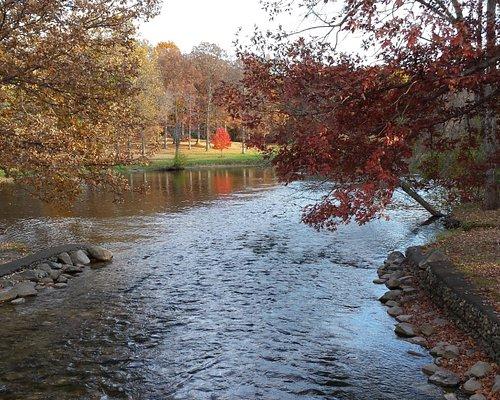 Huron River in fall '15, from trail bridge