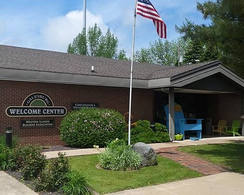 Our beautiful Welcome Center! Stop by! Just off I-74 on East Main Street.